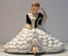 Royal Dux Bohemia - Porcelain figurine by Elly Strobach