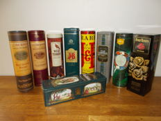 20 Whiskey tins and/or tubes + 5 different - 2nd half 20th century.