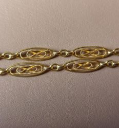 Necklace in 18kt gold, 750, never worn, low reserve price.