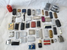 50 old lighters, diverse countries. Gas and petrol 19th century.