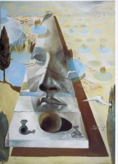 Salvador Dalí (after) - Apparition of the face of Aphrodite of Cnidos in a landscape