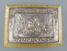Gold plated and silverplated cigar box - France - ca 1900.
