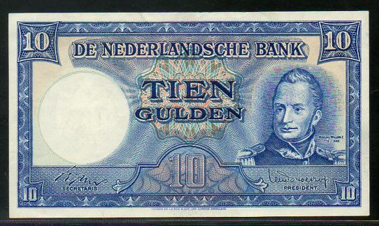 Netherlands - 10 gulden 1949 - Willem I - mevius 47-1