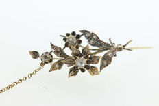 19th century flower brooch.