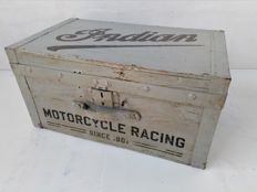 Indian Motorcycle Racing-wooden crate from the first half of the 1900s