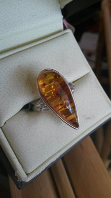 Baltic Amber Dress ring 4.00cts No Reserve