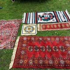 Various hand-knotted rugs