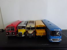 Atlas - Scale 1/43 - Lot of 6 models: 5 x Bus & 1 Citroen 2CV