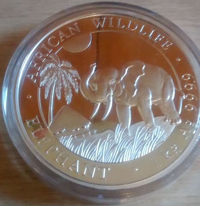 1 KG pure silver, Elephant coin 2017, hard to find