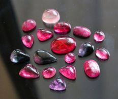 Lot of Tourmaline Cabochons - 120ct (18)