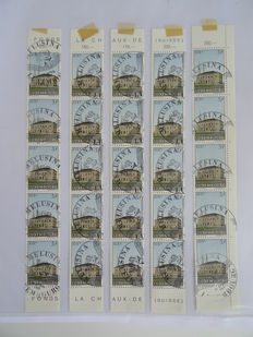 Luxembourg 1955/1963 – Batch of Stamps in Strips, Sheets and Sheet Parts