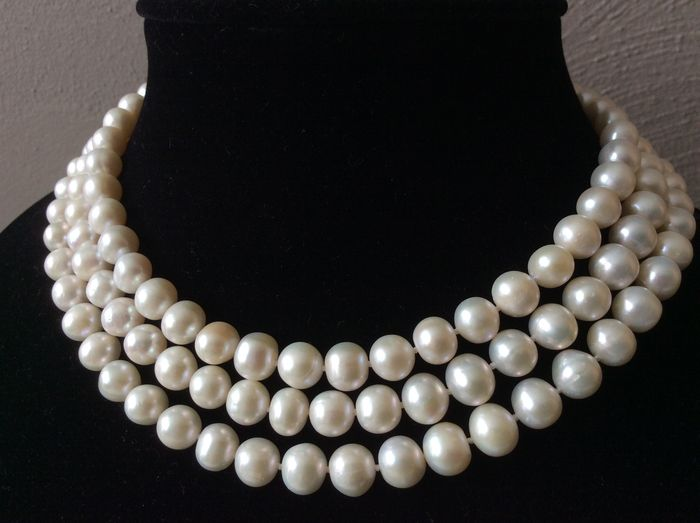 Necklace with baroque pearls – 121 cm / 48""