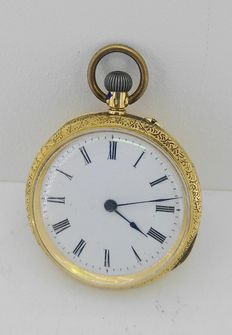Anonymous – Pocket watch for ladies – Year 1900 approx – 18 kt gold yellow gold