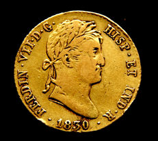 Spain – Fernando VII – Doubloon of 2 escudos 1830 Madrid AJ – Gold.