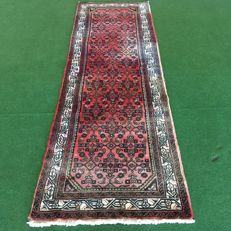 NO RESERVE PRICE!  From €1!!  Handknotted Persian runner - Hamadan - 305 x 96 cm, circa 1970