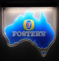 "Plastic ""Foster's"" advertising lighting / 2nd half of 20th century"