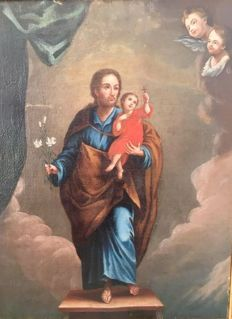Artist unknown (17th - 18th century ca.) - St. Joseph with Child