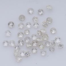 38 Round Brilliant Diamonds – 0.33 ct. - *** NO RESERVE ***