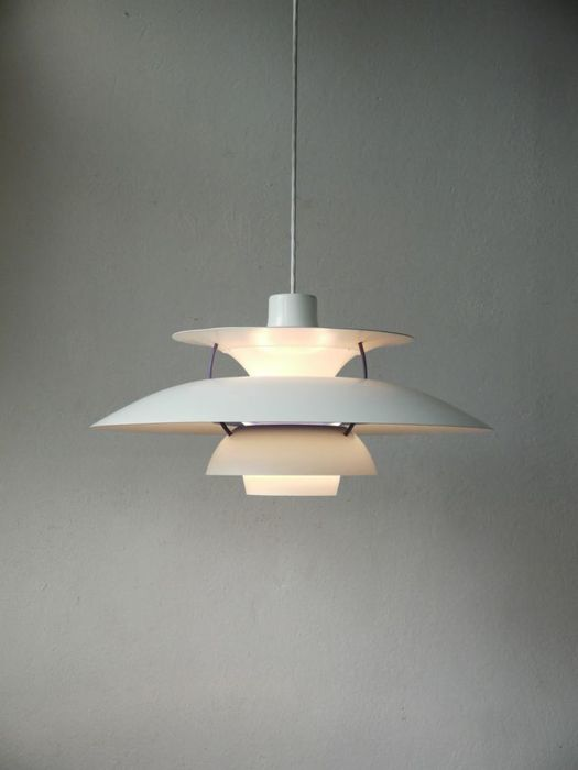 Poul Henningsen for Louis Poulsen -  PH 5 pendant lamp light.  Earlier design.