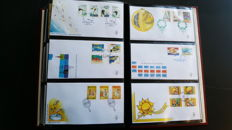 Aruba and the Dutch Antilles 1959/2007 - Collection FDCs in 2 Importa PS III albums