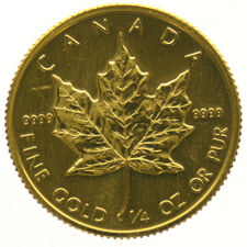Canada - 1/4 Maple Leaf, 10 Dollars 1986 goud