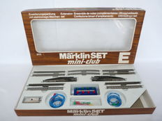 Märklin Z-8191 - Expansion-rail set with curved- / straight pieces and 2 electric switches