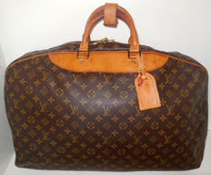 Louis Vuitton Alize 24H travel bag, unisex, with name tag and handle