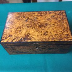 Biedermaier oak briar cigar box - Weimar Republic, early 20th century