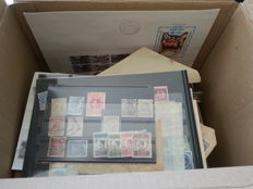 Netherlands and Overseas - batch of stamps from classic and stamp booklets in a box