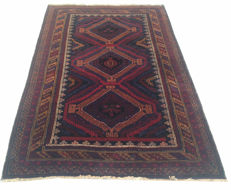 Vintage Afghan Hand Knotted Balouch Herati Area Rug 198 cm x 122 cm