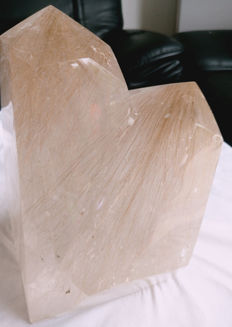 Beautiful Rutile Quartz twin crystals - 170 X 230 x 130 mm - 6.88 kg