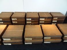 Lot of 25 boxes with many new alarm parts for repairing alarms - 1920s-1970s