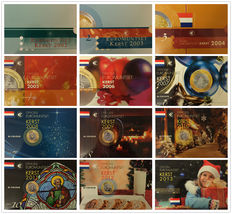 "The Netherlands – Year sets 2002/2013 ""Christmas sets"" (12 different) complete"