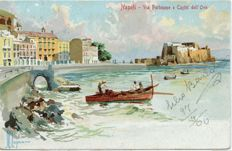 Napoli Naples 135+ old postcards, small format , L4