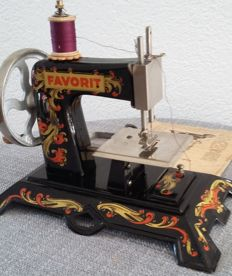 Favorit childs sewing machine, ca. 1946, Germany British zone