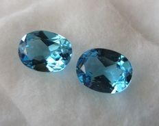 Blue Topazes Matching Pair  – 4.27 ct – No reserve