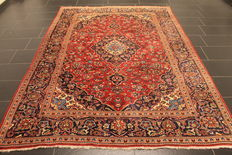 Very beautiful fine antique Persian palace carpet, Kashan, finest cork wool circa 1960, made in Iran, 205 x 285cm