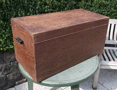 Hay box solid mahogany wood, circa 1900