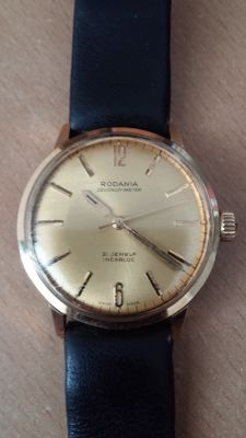 Men's watch, Rodania Secondo Meter, 21 jewels, 1960s.