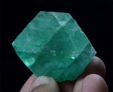 Nice Double Terminated Gemmy Fluorite Crystal - 50 x 45 x 33 mm - 105 gm