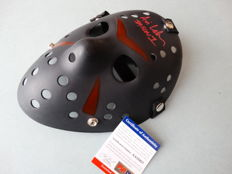 """Friday the 13th - Jason Voorhees signed mask - signed by Jason Voorhees actor Ari Lehman from part 1 with extra inscription """"Ari Lehman Jason 1"""""""