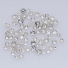 75 Round Brilliant Diamonds – 0.34 ct. - *** NO RESERVE ***