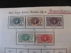 Former French colony - Mauritania 1906/1964 - Nearly complete collection