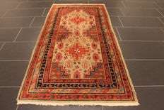 Collector's item, beautiful old hand-knotted oriental carpet, Kazak, Caucasus, old rug, 90 x 178 cm