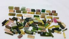Beautiful multicolor tourmaline mix - 138 ct.