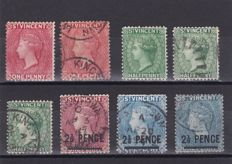 British Commonwealth 1859/1942 - Bahamas, B. Guiana, Grenada, Leeward, Montserrat and Saint Vincent