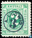 Number and post horns (with overprint Ludwig)