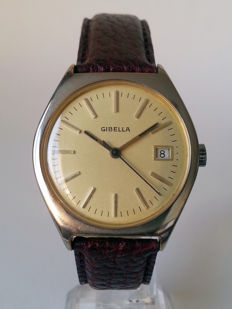 Gibella vintage mechanical men's watch, 1970s