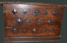 Early 17th Century Studded Chest in Walnut - France