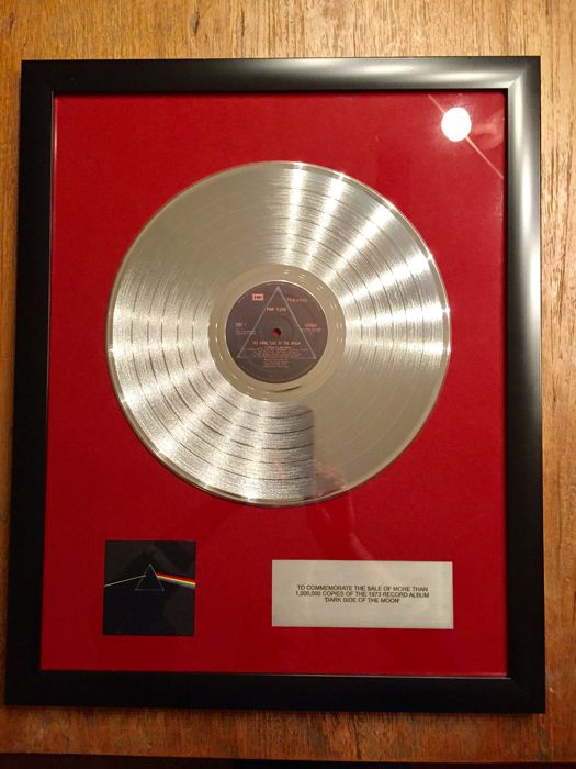 "Pink Floyd - ""Dark Side Of The Moon""  platinum 12"" award"